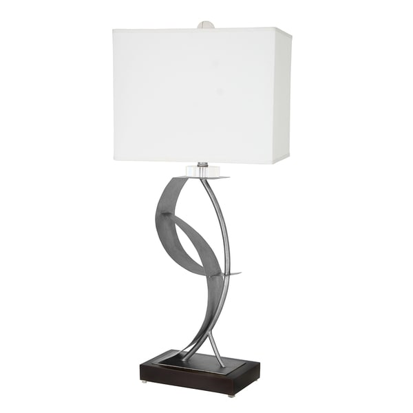 Van Teal 630572 Lady Clara Silver Acrylic and Steel 33-inch Table Lamp