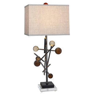 Van Teal 625772 Back To Basics Pewter Metal/Acrylic 32-inch Table Lamp