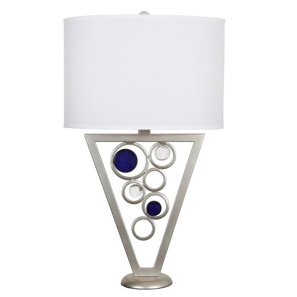 Van Teal 624972 Rolling Blues 34-inch Blue/Silver Metal Table Lamp