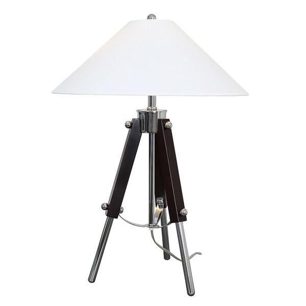 Van Teal Actor Black/White Metal Acrylic 28-inch Table Lamp