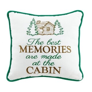 The Best Memories Are Made At The Cabin Embroidered Pillow