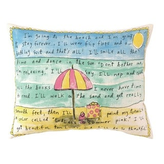Going To Beach Forever Printed Pillow