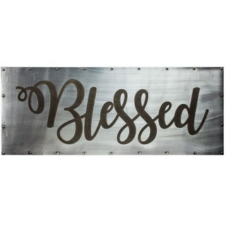 "American Art Decor ""Blessed"" Inspirational Farmhouse Decor"