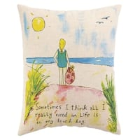 Beach Bag Printed Pillow