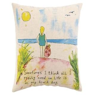 Beach Bag Printed Pillow