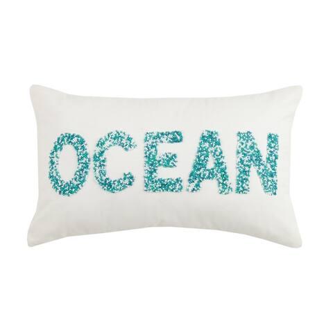 Ocean Beaded Pillow
