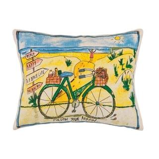 Beach Day Bike Printed Pillow