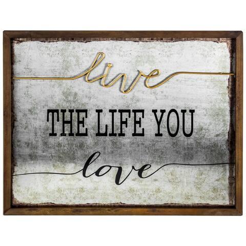 "American Art Decor ""Live the Life you Love"" Inspirational Farmhouse Decor"