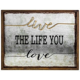 "American Art Decor ""Live the Life you Love"" Inspirational Farmhouse Decor"
