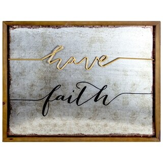 3D Wood Metal Framed Wall Art Decor Have Faith