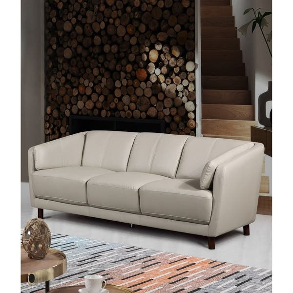 Cool Shop Vivian Mid Century Air Leather Fabric Sofa Free Squirreltailoven Fun Painted Chair Ideas Images Squirreltailovenorg