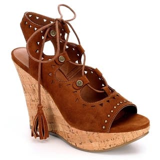 76e81139fc531 Buy Brown Women s Wedges Online at Overstock