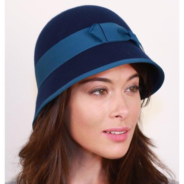 Shop Hatch Ribbon Cloche Wool Felt Women's Hat - Free ...
