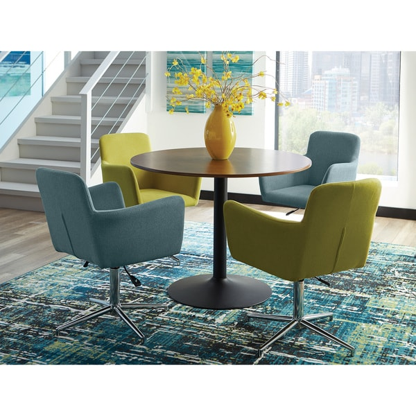 Brown And Blue Dining Room: Shop Hayes 5-piece Brown Wood/Metal Dining Set With Yellow