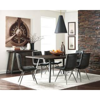 Size 10 piece sets kitchen dining room sets for less overstock walton silvertone black leatherette metal 10 piece dining set sxxofo