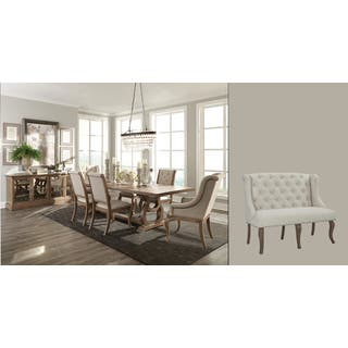 Size 9 piece sets kitchen dining room sets for less for Ashleigh dining set