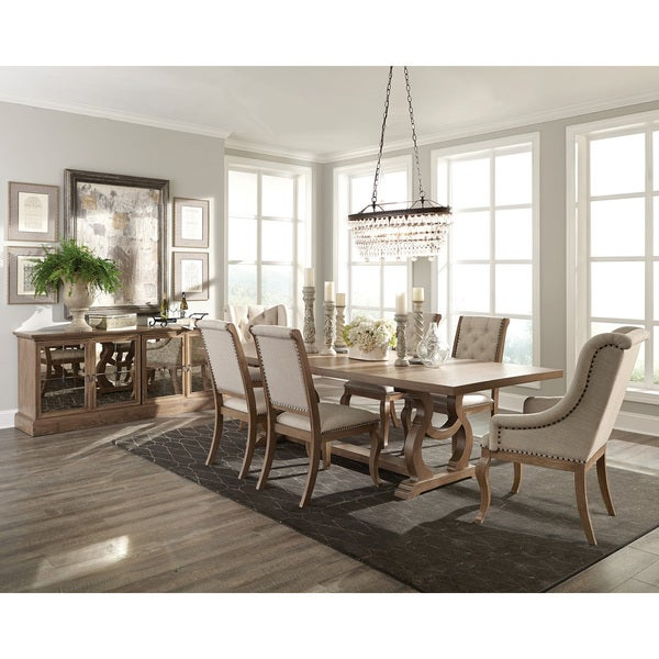 Ashleigh Brown Wood 8 Piece Dining Set With Server