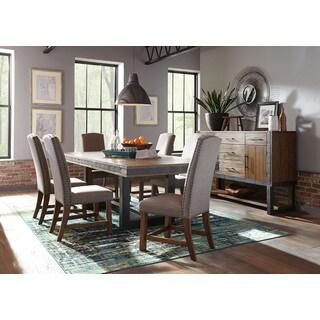 Bellevue Chic Bourbon Wood/Metal 8-piece Dining Set