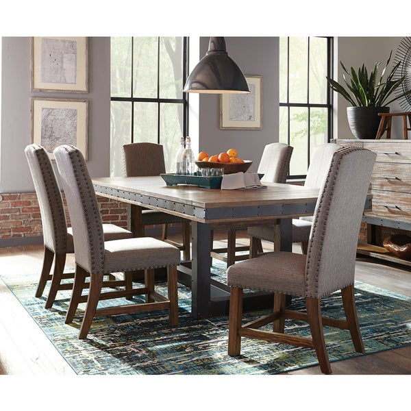 The Dining Room Is Back 4 Ways To Revive Your Fabulous: Shop Bellevue Chic Brown Matte Black Metal Acacia Wood 7