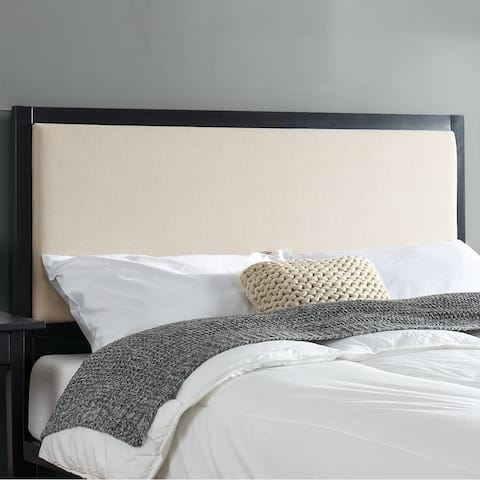 Priage by Zinus Taupe Upholstered Metal Headboard