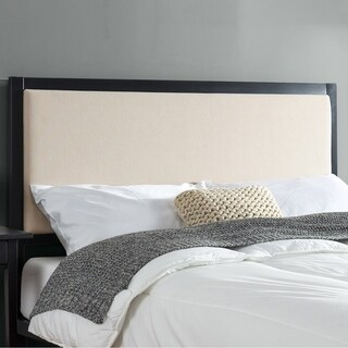Priage Taupe Upholstered Metal Headboard