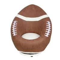 Kids' Brown Foam Football Swivel Chair