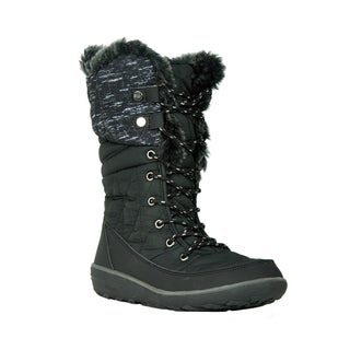Refresh FP21 Women's Lace Up Foldable Cuff Mid Calf Winter Snow Boots