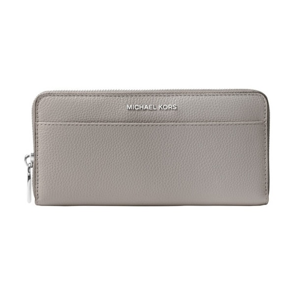 f68811aef3b9 MICHAEL Michael Kors Jet Set Saffiano Leather Continental Wallet Pearl  Grey Silver Hardware