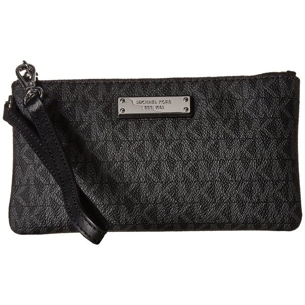d8236b0ad0ff Shop MICHAEL Michael Kors Jet Set Signature Medium Wristlet MK Logo ...