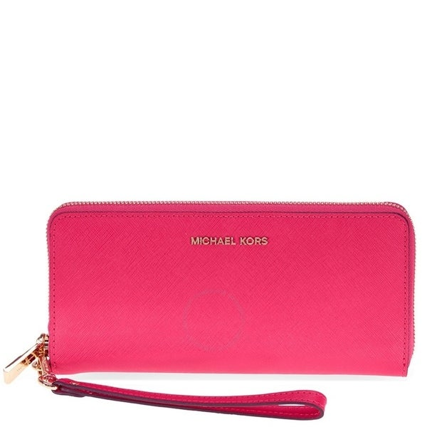 da65bba8d0cb10 Shop MICHAEL Michael Kors Jet Set Travel Continental Wallet Ultra Pink -  Free Shipping Today - Overstock - 19435458
