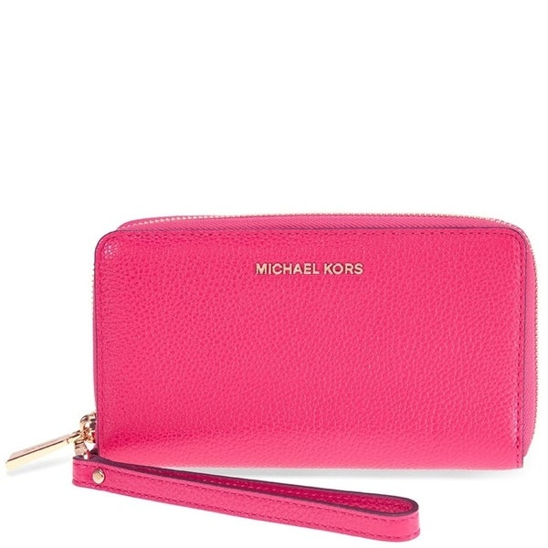 75b3c28d0498 Shop MICHAEL Michael Kors Mercer Large Flat Multi Function Phone Case Ultra  Pink - Free Shipping Today - Overstock - 19435459