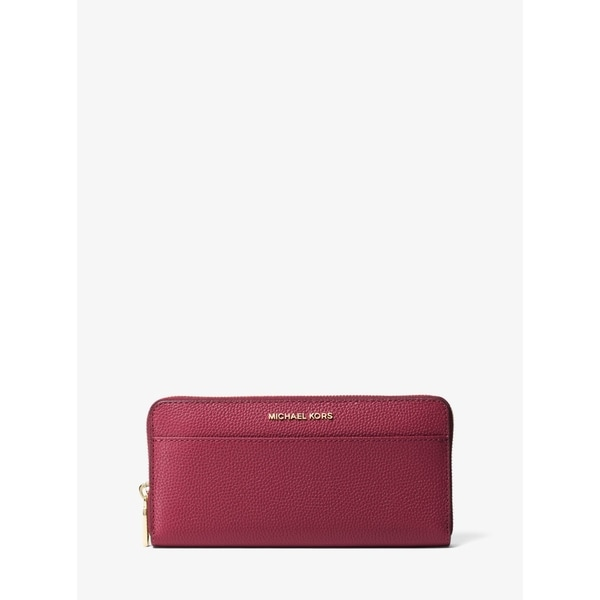 68a4b2547853c5 MICHAEL Michael Kors Jet Set Saffiano Leather Continental Wallet Mulberry