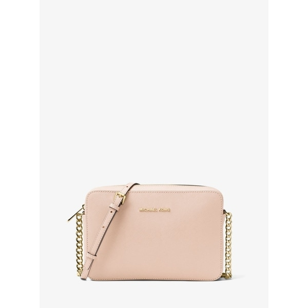 MICHAEL Michael Kors Jet Set Large Saffiano Leather Crossbody Soft Pink. Opens flyout.