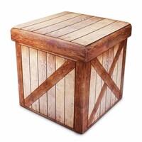 Shop Delta Multi Color Wood Crate Ottomans Set Of 2 On Sale