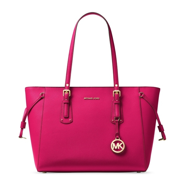 Shop Michael Kors Voyager Ultra Pink Leather Multi-function Top-Zip ... 1c2b2e32e8