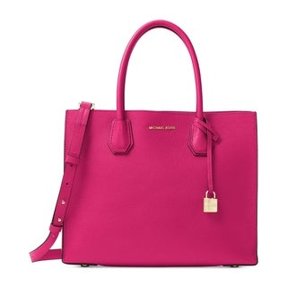Tote Bag On Sale, ultrapink, Leather, 2017, one size Michael Kors