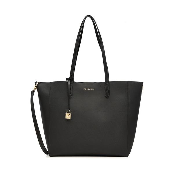 69d30af0cf35 Shop MICHAEL Michael Kors Penny Convertible Leather Tote - Black ...