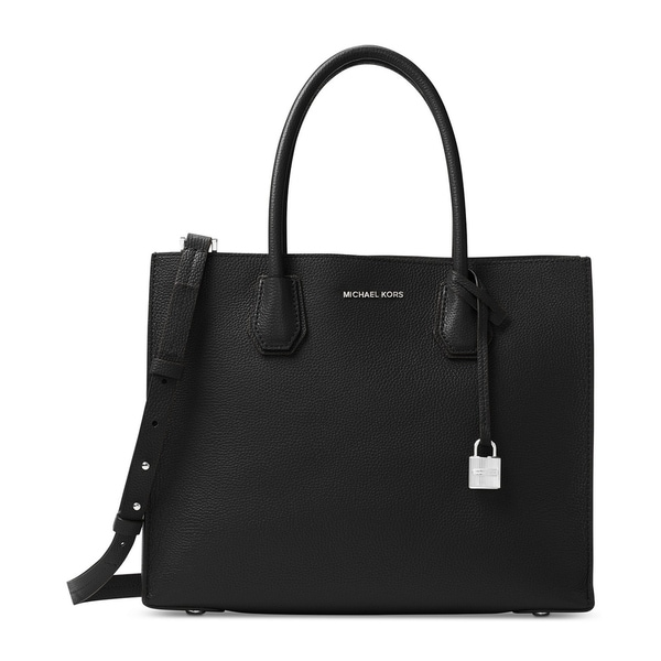 8c1c5d019693d2 Shop MICHAEL Michael Kors Mercer Convertible Tote Black/silver - Free  Shipping Today - Overstock - 19436394