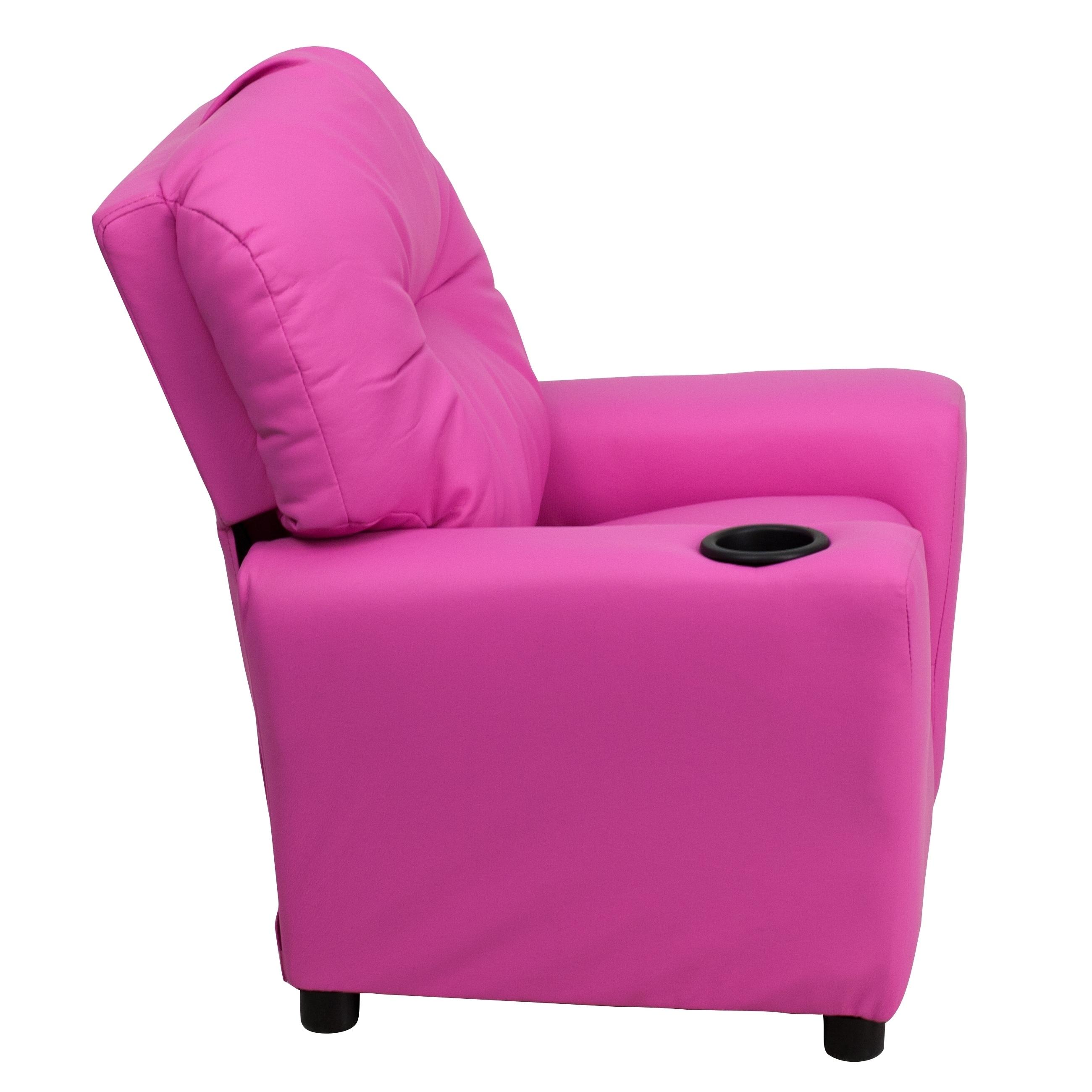 Kaloo Comfortable Children Hot Pink Reclining Armchair Hot ...