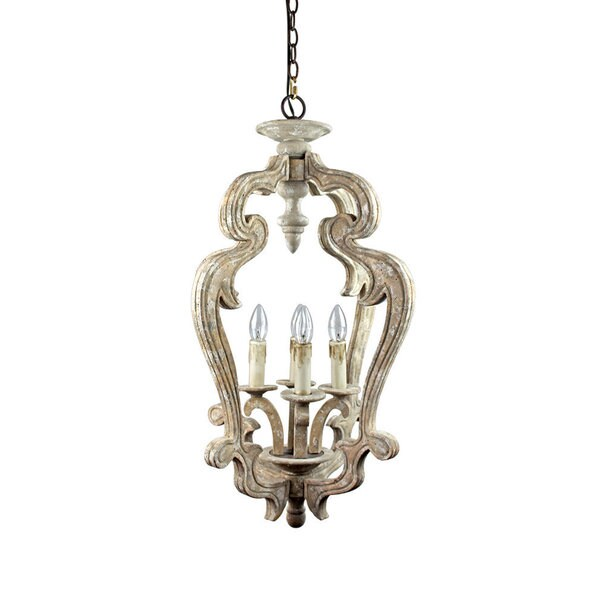 Shop distressed white wood antique style 4 light candle look pendant distressed white wood antique style 4 light candle look pendant fixture aloadofball