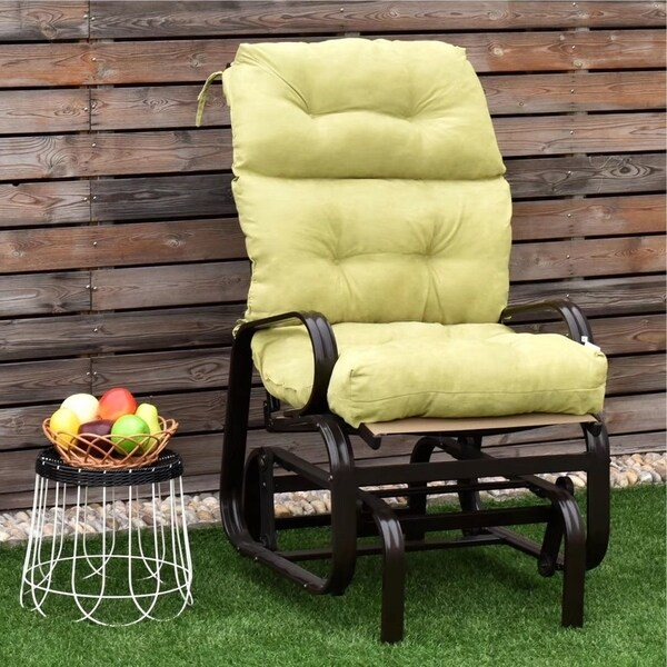 44 High Back Chair Cushion Tufted Pillow Indoor Outdoor Swing Seat
