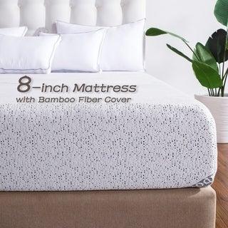 Sleep 8-inch Twin-size Ventilated Memory Foam Air Gel Mattress