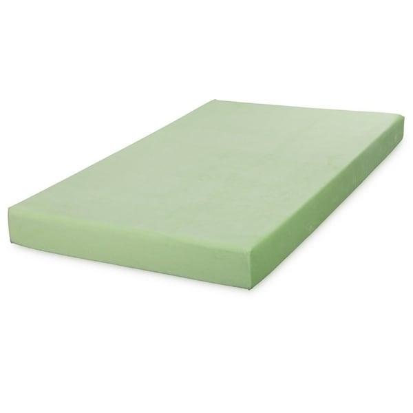Shop Cr Sleep Light Green 5 Inch Twin Size Memory Foam Mattress