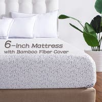 Cr Sleep Gel-infused Memory Foam Mattress with Bamboo Cover, 6-inch - N/A