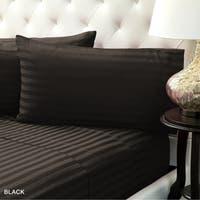400 Thread Count Cotton Sheet Set Elegant Damask Stripe by Color Sense