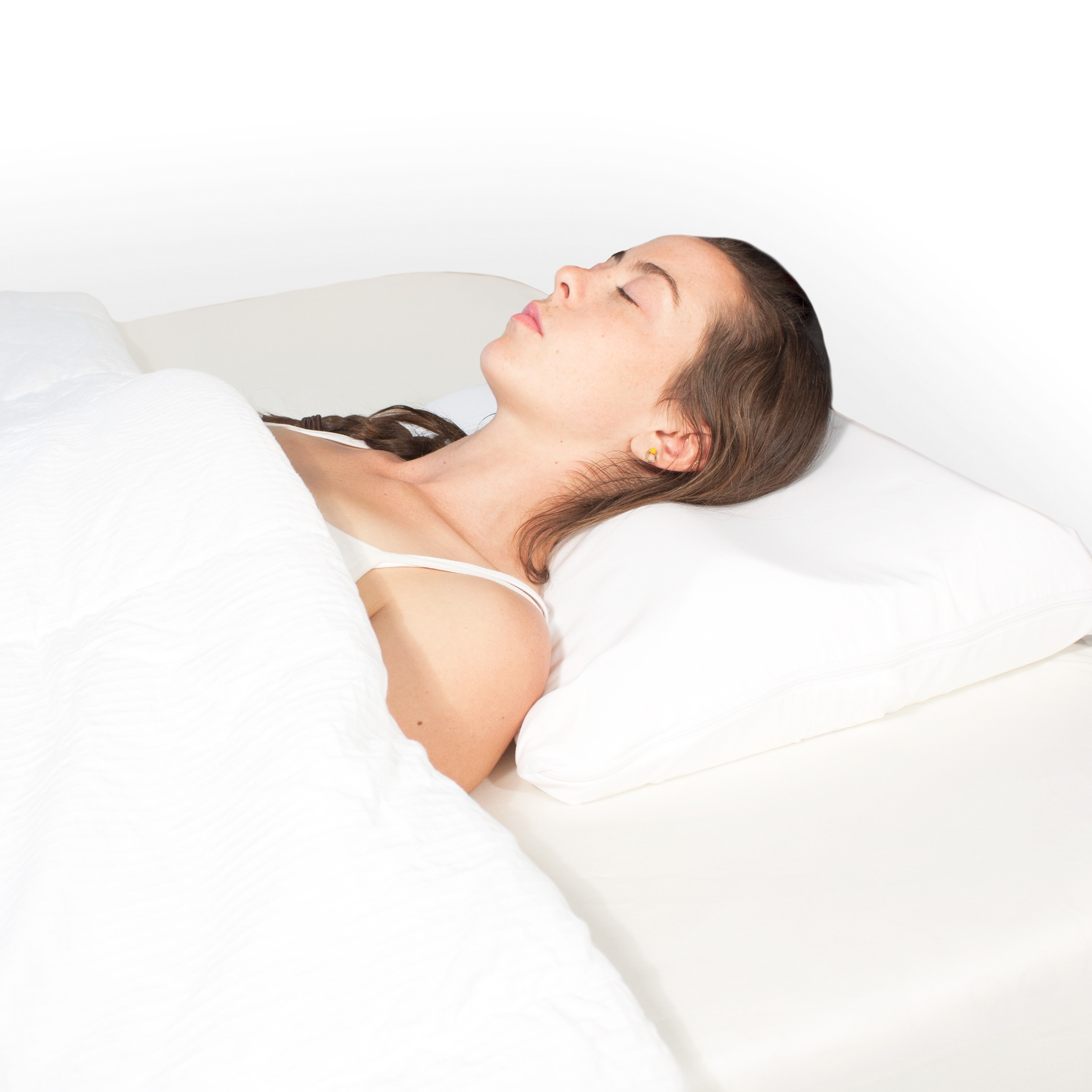 Science of Sleep Snore No More Pillow, Blue wash