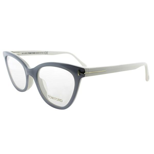 d8c8d98e06 Shop Tom Ford Cat-Eye FT 4271 020 Womens Grey Ivory Frame Eyeglasses ...
