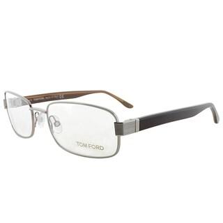 Tom Ford Rectangle FT 5092 753 Unisex Gunmetal Frame Eyeglasses