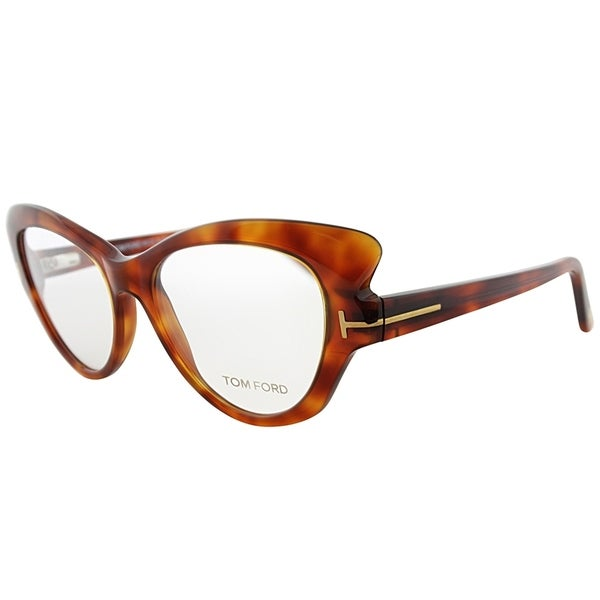b7ee9ac61c90 Shop Tom Ford Cat-Eye FT 5269 052 Womens Havana Frame Eyeglasses ...