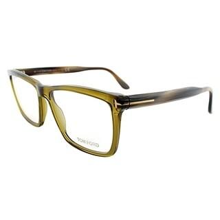 Tom Ford Square FT 5407 096 Unisex Transparent Green Frame Eyeglasses
